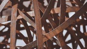 Eine Nahaufnahme eines ` Alene Art Piece Sculpture In Downtowns Coeur d, das guten Hintergrund oder Tapete macht Stockfoto