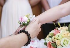 Eine Nahaufnahme eines Eherings Lizenzfreie Stockbilder