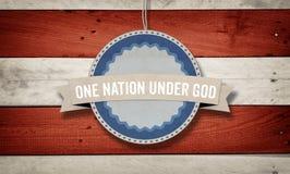 Eine Nation unter Gott, US-Amerikanerfarbschema Lizenzfreie Stockfotos