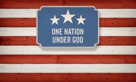 Eine Nation unter Gott, US-Amerikanerfarbschema Stockfotografie