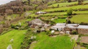 Eine nette Stadt, Galizien, España stock footage