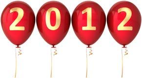 Eine neue 2012-Jahr-Party Hinauftreiben von Aktienkursen rote Dekoration Lizenzfreie Stockbilder