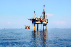 Eine Offshoreölplattformplattform Lizenzfreies Stockbild