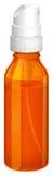 Eine orange Sprühflasche Stockbild