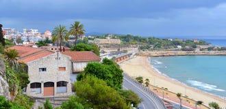 Eine panoramische Ansicht von Tarragona Lizenzfreies Stockfoto
