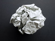 Eine Papierkugel Stockfoto