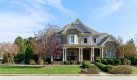 Eine perfekte Nachbarschaft Häuser im Vorort, US lizenzfreies stockfoto