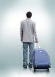 Eine Person, die sich entschied zu reisen Stockbild
