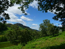 Eine Perthshire Schlucht, Schottland Lizenzfreies Stockfoto