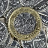 Eine Pfund-Münze - britische Währung Stockfotografie