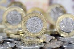 Eine Pfund-Münze - britische Währung Lizenzfreie Stockfotos