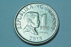 Eine philippinischer Peso-Münze Stockbild