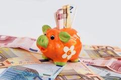 Eine Piggy Querneigung Lizenzfreie Stockfotos