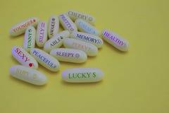 Eine Pille für alles Stockbild