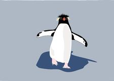 Eine Pinguinstellung. Stockfoto