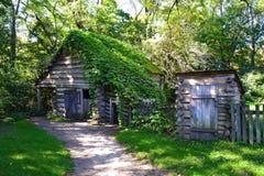 Eine Pionierscheune in neuem Salem in Illinois Stockbilder