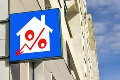 Eine Plakatwerbung der Verkauf von Immobilien Lizenzfreie Stockfotografie