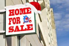 Eine Plakatwerbung der Verkauf von Immobilien Stockbild