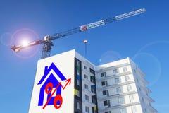 Eine Plakatwerbung der Verkauf von Immobilien Lizenzfreie Stockbilder