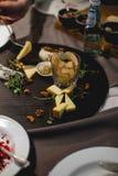 Eine Platte des Käses stockfotografie