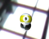 Eine Poolbilliardkugel Stockbild