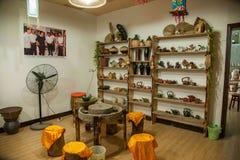 Eine Probe Chongqing Rongchang-Tonwarenstudiotonwarenmuseum Rongchang Tao Stockfoto