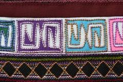 Eine Probe des gesponnenen ethnischen Tuchgewebes Stockbilder