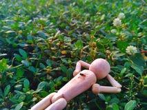 eine Puppe, die war, entspannen sich Lizenzfreie Stockfotos