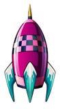 Eine Rakete mit einem spitzen Tipp stock abbildung