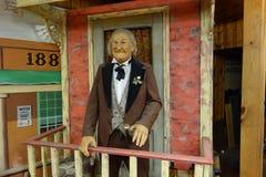 Eine realistische Statue eines Mannes vom Westen Stockfotografie