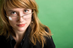 Eine recht junge Berufsgeschäftsfrau Stockfoto