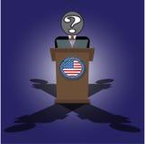 Eine Rede auf der unbekannten Persönlichkeit des Podiums von Präsidenten Stockfotografie