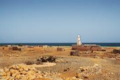 Eine Regelung auf dem Ufer des Meeres von Aden yemen Stockfoto