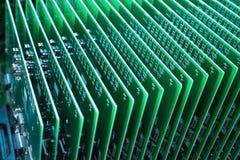 Eine Reihe der grünen Leiterplatte Stockbilder