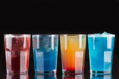 Eine Reihe des Cocktails für Kartenbar Lizenzfreies Stockfoto
