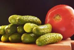 Eine Reihe des Gemüses Stockbild