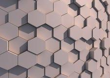 Eine Reihe Hexagone Lizenzfreie Stockfotografie