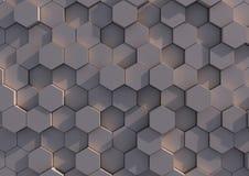 Eine Reihe Hexagone Stockfotografie