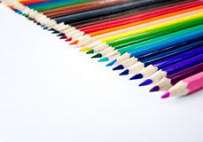 Eine Reihe Pastellfarben. Stockfotos