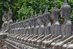 Eine Reihe von Buddha-Bildern Lizenzfreie Stockfotos