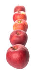 Eine Reihe von roten Äpfeln III Lizenzfreies Stockbild
