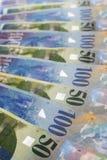 Schweizer Franken Stockfoto