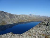 Eine Reise bis Besseggen in Norwegen lizenzfreies stockfoto
