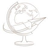 Eine Reise um die Welt lizenzfreie abbildung
