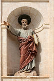 Eine religiöse Statue an der Kirche, Malta Stockfotografie