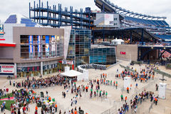 Eine Richtung lockert Gillette Stadium Foxboro MA auf Lizenzfreie Stockfotos