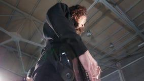 Eine Rockgruppe, die eine Wiederholung hat E stock footage