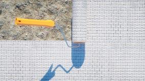 Eine Rolle des Pflastersteins Bürste des Pflastersteins Mein Architekturprojekt des persönlichen Konzeptes Wiedergabe 3d Lizenzfreies Stockfoto