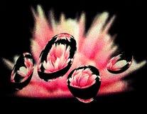 Eine rosa Rauchwolke stock abbildung