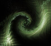 Eine Rotation der Matrix-Zahlen lizenzfreie abbildung